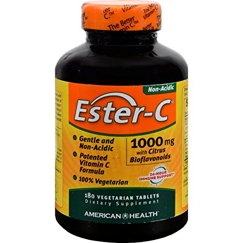4 Pack of American Health Ester-C with Citrus Bioflavonoids - 1000 mg - 180 Vegetarian Tablets - - - by American Health
