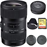 Sigma AF 18-35MM F/1.8 DC HSM Lens for Nikon (210-306) with Sigma USB Dock & Sandisk 32GB Extreme SD Memory Card