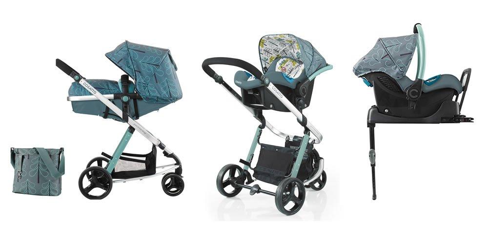 Cosatto Woop cochecito de bebé y carrito de bebé con puerto y Base Isofix verde Fjord: Amazon.es: Bebé