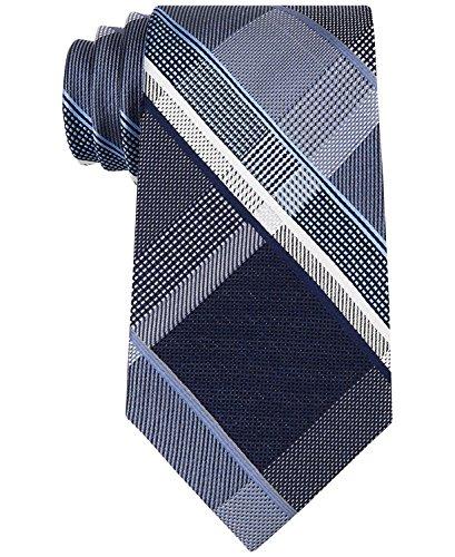 Michael Kors Forest Plaid Neck Tie Silk Men's Accessory Blue Not - Kors Michael Return Free