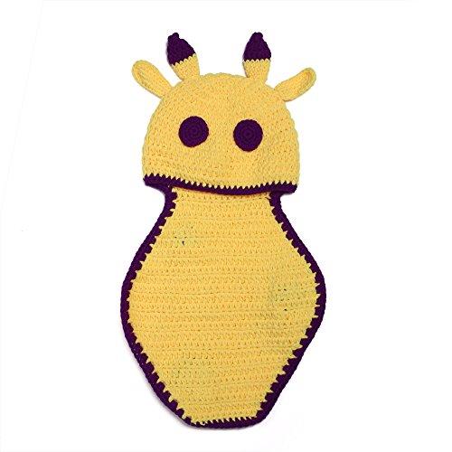 Elee Baby Deer Giraffe Fawn Handmade Crochet Knit Costume Set Photography Prop (Baby Fawn Halloween Costume)