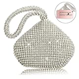TOPCHANCES-Mini-Size-Womens-Evening-Clutch-Bag-Triangle-Full-Rhinestones-Party-Prom-Wedding-Purse-Carrying-Sli