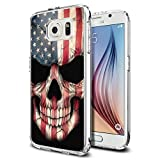 Best Protective Galaxy S6 Cases - S6 Case American Flag Skull, LAACO Scratch Resistant Review