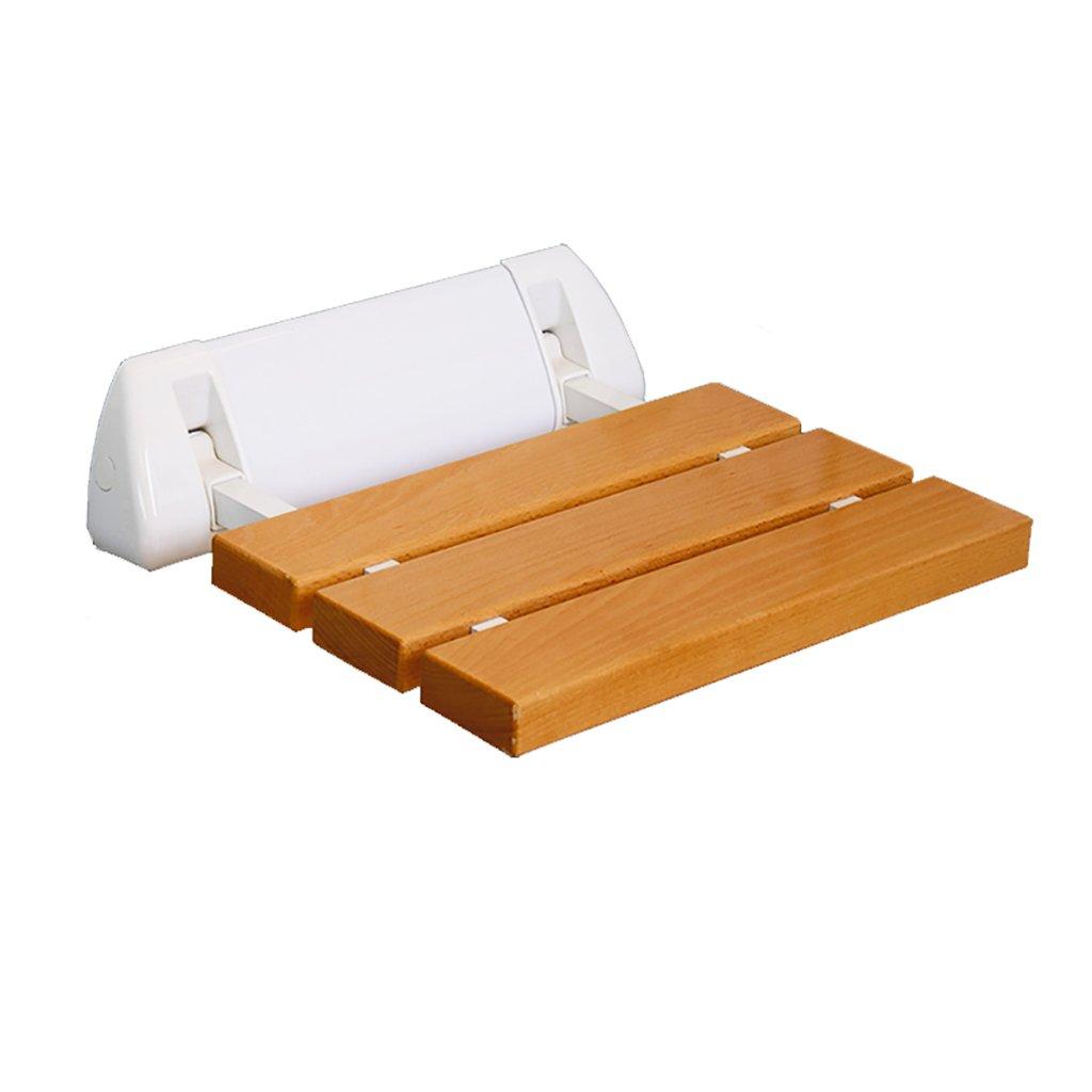 バスルームのスツール無垢の木の折りたたみの壁の椅子バスルームシャワーのスツールバスチェア靴ベンチスツール折りたたみチェア (色 : 1) B07DTWNJCV 1 1