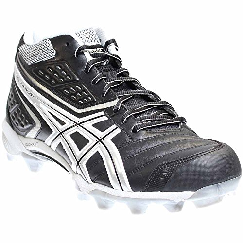 Asics Men's GEL-Provost Lacrosse Cleat,Black/Silver/White...