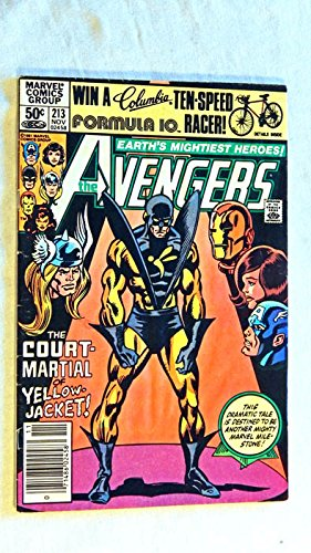 The Avengers #213 Comic Book - Marvel Comics 1981 - 8.0 Grade - Yellowjacket Strikes The Wasp issue! - A USED...
