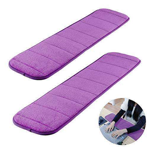 2Pcs Computer Wrist Elbow Pad, Creatiee Upgraded Wrist Rest Arm Pad(Soft, Long-Sized), Keyboard Wrist Elbow Support Mat for Office Desktop Working Gaming - Less Elbow Pain (7.9 x 31.5 inch) (Purple)