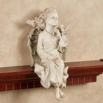 Amazon.com: Toque de clase Angel estante sentado crema ...