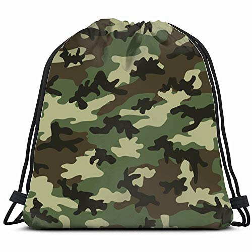 - Military Camouflage Four Colors Background Beauty Fashion Drawstring Backpack Bag Sackpack Gym Sack Sport Beach Daypack For Girls Men & Women Teen Dance Bag Cycling Hiking Team Training