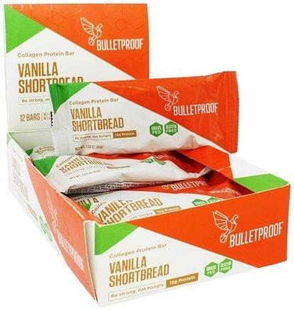 Bulletproof Collagen Protein Bars 12 Bars (Vanilla Shortbread)