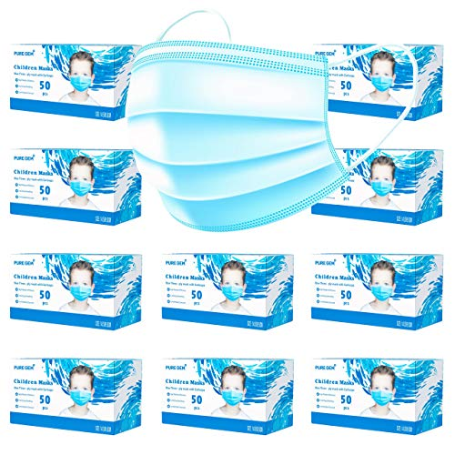 Premium Pack of 500 (20 x 25 Masks) Children's Size Single Use Disposable Kids Face Mask, Boys and Girls, Soft on Skin…