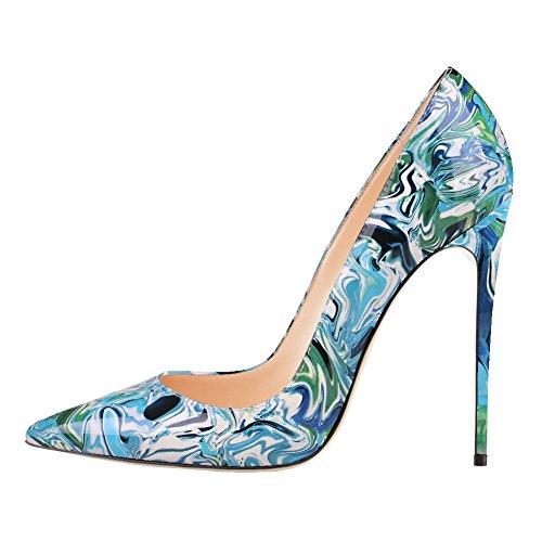 MERUMOTE - Zapatos de vestir para mujer Azul
