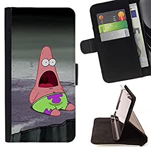 BETTY - FOR Sony Xperia M2 - Funny Sponge Friend Fish - Style PU Leather Case Wallet Flip Stand Flap Closure Cover