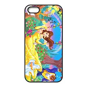Customize Cartoon Beauty and Beast Back Cover Case for iphone 5,5S JN5S-1269