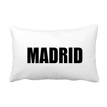 Amazon.com: DIYthinker Madrid Spain City Name Throw Lumbar ...