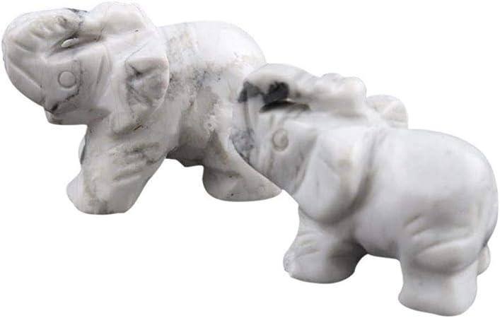 Hankyky Crystal Elephant Decorativa Estatua Animales Colección Escultura Artesanía Ornamente hogar jardín Figuras Miniaturas Tamaño Libre D: Amazon.es: Hogar