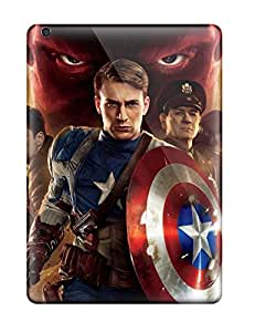 Awesome 2011 Captain America First Avenger Flip Case With Fashion Design For Ipad Air