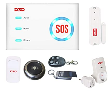 D3D Wi-Fi /GSM Security Alarm System with WiFi Door Bell Smart Home  Automation DIY Kit for All Smartphones (White)