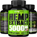 Viridian Peaks Hemp Extract Capsules 5000mg Supplement For Anxiety Stress Relief 100 Grown Made In Usa Premium Quality Immune Support Omega 3 6 9 Source Insomnia Relief Mood Boost