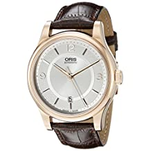 Oris Classic Date Silver Dial Brown Leather Mens Watch 01 733 7594 4831-07 6 20 12