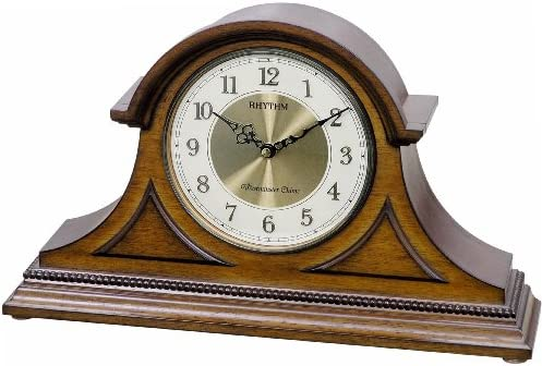 Rhythm Clocks Remington II Wooden Musical Mantel Clock