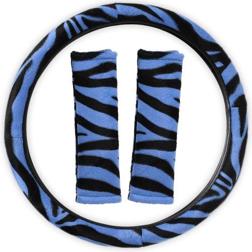 zebra print steering wheel cover - 3
