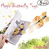 ixaer Flying Butterfly, Magic Flying Butterfly/Transform Flying Butterfly/Great Surprise Gift 5 Packs Tricks Fantasy/ Cocoon into a Butterfly Trick Prop Magic Toys 5PCS.