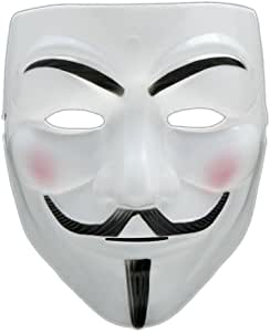 V for Vendetta Anonymous Guy Fawkes Fancy Cool Costume Masquerade Cosplay Mask for Parties and Carnivals