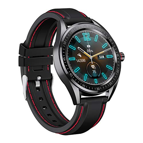 Crossbeats Trak Smart Watch 1.28″ Full Touch Men Women Fitness Tracker Blood Pressure Blood Oxygen Heart Rate Monitor Waterproof Exercise Smartwatch for iPhone Samsung Android