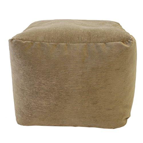 Gold Medal Bean Bags Micro-Fiber Suede Corduroy Ottoman, ...