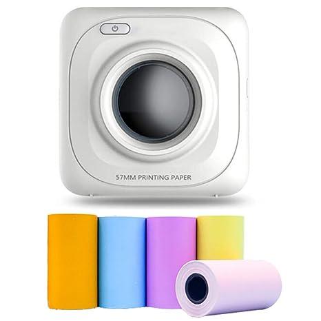 ZUEN Foto Inmediata Impresora Portátil, Mini Bluetooth para ...