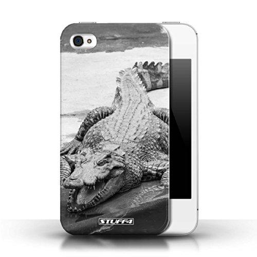 Kobalt® protector duro de nuevo caso / cubierta para el Apple iPhone 4/4S | Cocodrilo/cocodrilo Diseño | Animales de zoológico mono colección