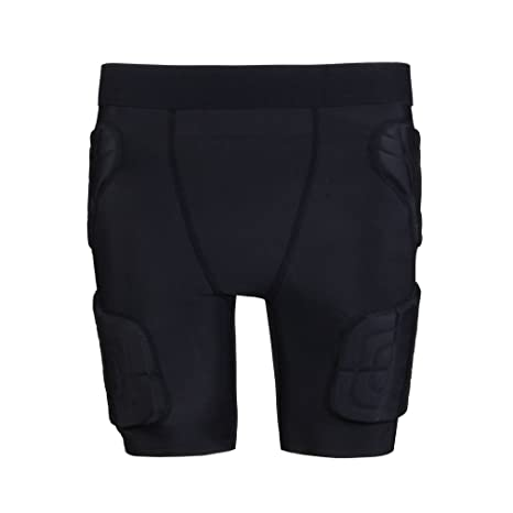 c46e13f5cde yingfeg bb Kids Padded Shorts Protective Underwear Hip Butt Pad Compression  Shorts for  Football,Basketball,Bike,Soccer,Volleyball,Rugby,Paintball,Cycl...