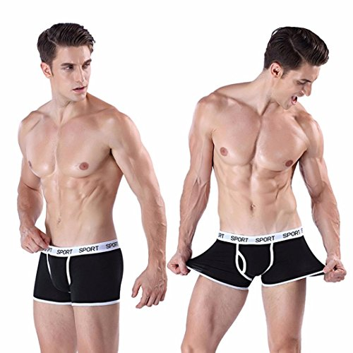 b8d796006e4c0 delicate Challyhope Mens Boys Boxer Briefs Underwear Soft Breathable  Underpants With Front Fly