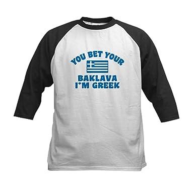 0c04e51b Amazon.com: CafePress Funny Greek Baklava Kids Baseball Kids Jersey:  Clothing