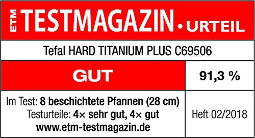 Tefal C69506 Hard Titanium Plus Pfanne, 28cm, antihaftbeschichtet, Aluminium, schwarz 7