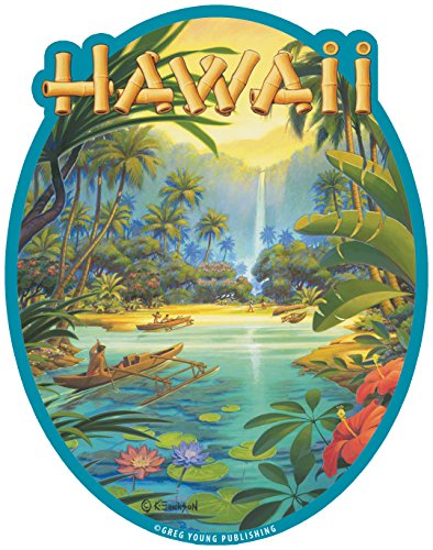 Hawaiian Art Decal - Car Window Bumper Sticker - Aloha, used for sale  Delivered anywhere in Canada