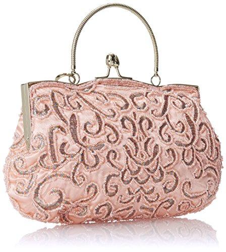 femme soirée la Collection à Rose MG brodée Design perlée élégant et de Pochette Adele Champagne main tO8wxq1H