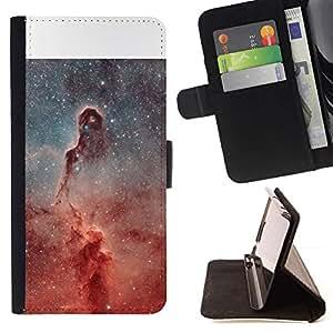 For Samsung Galaxy Note 4 IV Case , Universo Pilar Estrellas Nebulosas Red Cosmos- la tarjeta de Crédito Slots PU Funda de cuero Monedero caso cubierta de piel
