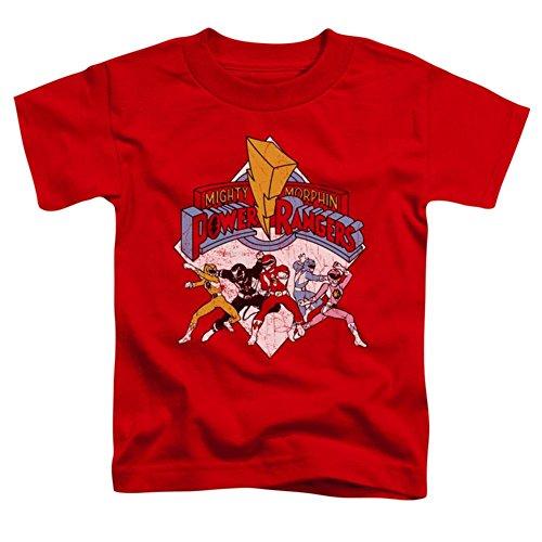 (Toddler: Power Rangers - Retro Rangers Baby T-Shirt Size 3T)