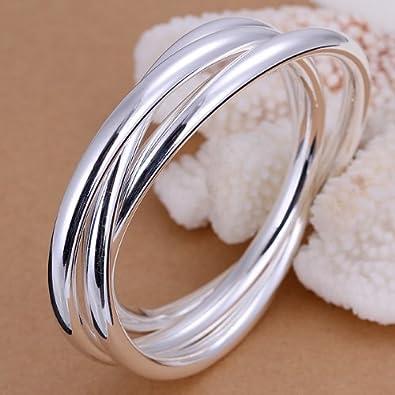 Armband Armkette Armreif mit 3 geschlossenen Ringen 925 Sterling Silber pl