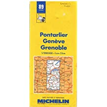 Michelin Évian - Annecy - Briançon Map No. 89