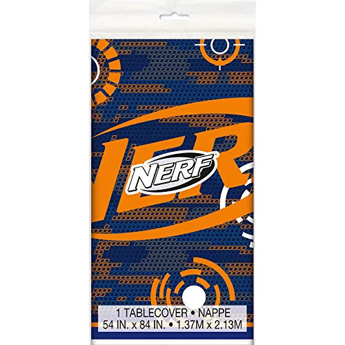 Unique Industries, Nerf Party Plastic Tablecloth - 84'' x 54'' by Unique Industries