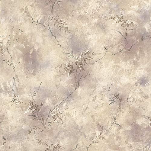 (Brewster 426-6230 Bath Bath Bath III Fern Trail Wallpaper, 20.5-Inch by 396-Inch, Beige)