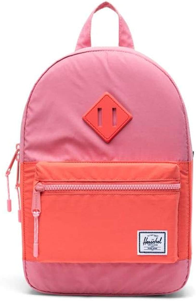 Herschel Heritage Unisex Medium Flamingo Pink and Hot Coral Reflective Polyester Casual Backpack 10313-03081-OS