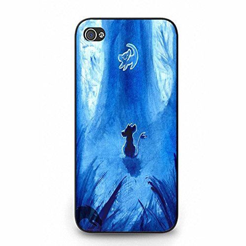 hülle Handyhülle Shell Fantastic Blue Pattern Disney Cartoon The Lion King Phone hülle Handyhülle Cover for Iphone 5 5s Anime Popular,Telefonkasten SchutzHülle