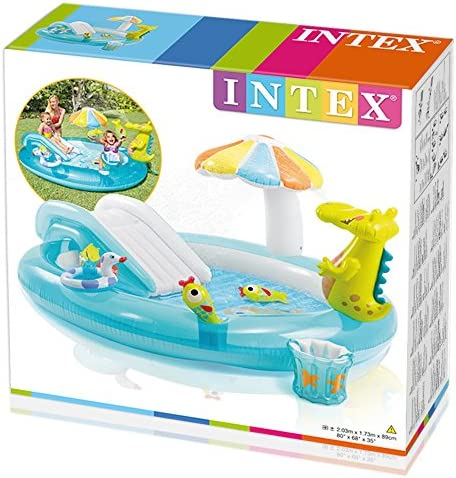 Intex 57129 - Playcenter Alligatore, 203 x 173 x 89 cm