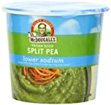 Dr. McDougall's Right Foods Vegan Split Pea Soup, Lower Sodium, 1.9-Ounce Cups (Pack of 6) by Dr. McDougall's Right Foods