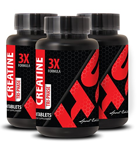 Pre workout pills for men - CREATINE 3X POWERFUL FORMULA - Creatine for women weight loss - 3 Bottles 270 Tablets