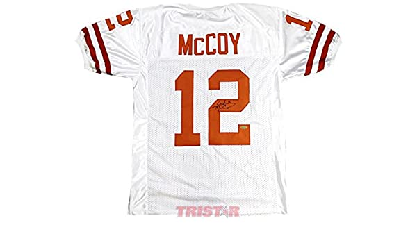 fc3300b496c Amazon.com: Colt McCoy Autographed Texas Longhorns Custom White Jersey -  Tristar Productions Certified - Autographed College Jerseys: Sports  Collectibles